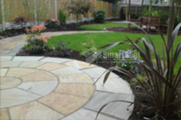 Completed patio circle & pathway