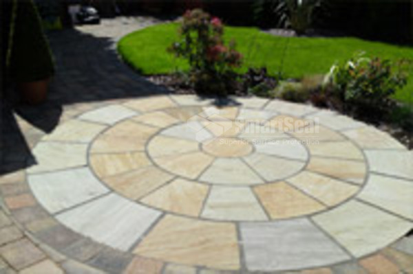 Completed  patio circle